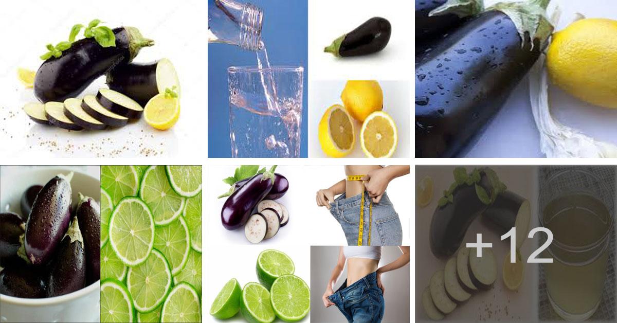 Aprende cómo perder peso con berenjena y limón